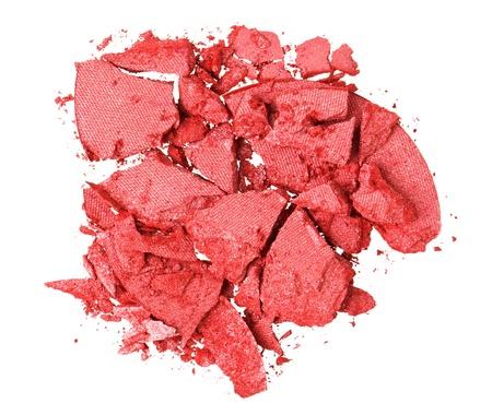 oeil rouge: Broken paupi�res rouge, isol� sur macro blanc Banque d'images
