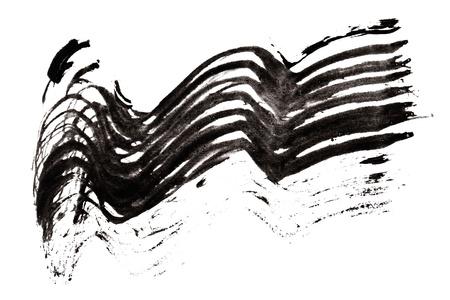 Stroke (sample) of black mascara, isolated on white macro Stock Photo - 9964382