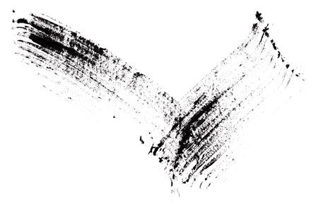Stroke (sample) of black mascara, isolated on white macro Stock Photo - 9963940