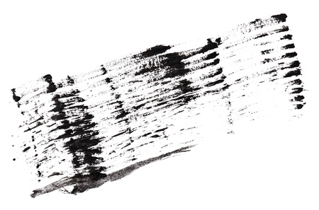 Stroke (sample) of black mascara, isolated on white macro Stock Photo - 9963944