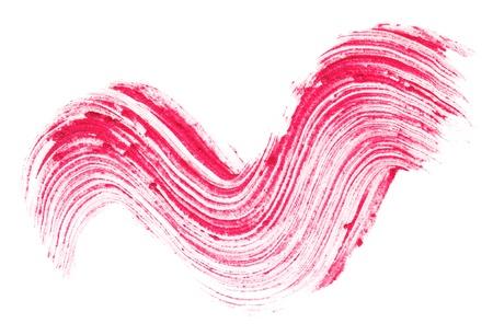 verschmieren: Rote Lippenstift Strich (Beispiel), isoliert auf weiss Lizenzfreie Bilder