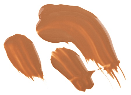 Beige tone cream (foundation) makeup samples, isolated on white Stock Photo - 9964485