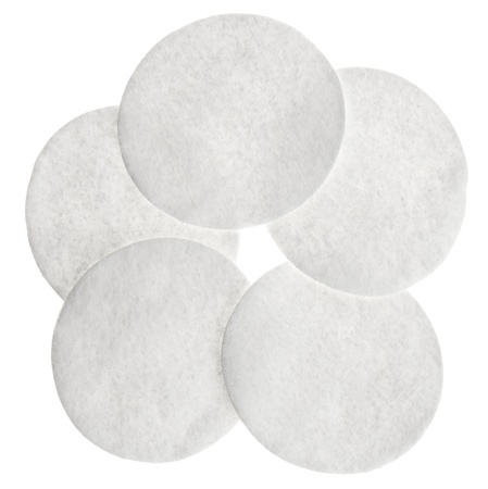 applicator: Cotton round cosmetic pads, isolated on white
