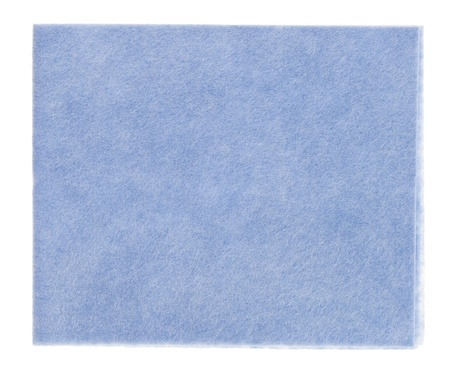 spongy: Blue viscose kitchen  (tissue), isolated on white