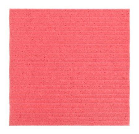 celulosa: Rosa cocina de celulosa (papel), aislado en blanco