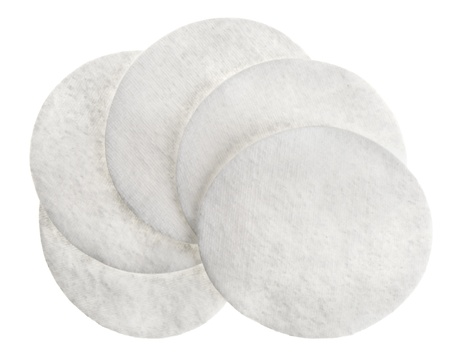 cotton pad: Cotton round cosmetic pads, isolated on white