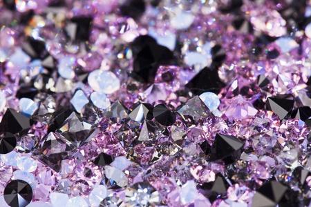 Small purple gem stones, luxury background shallow depth of field photo