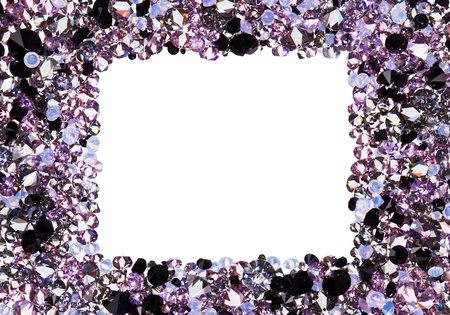 Square frame made from many small purple diamonds, with copyspace photo