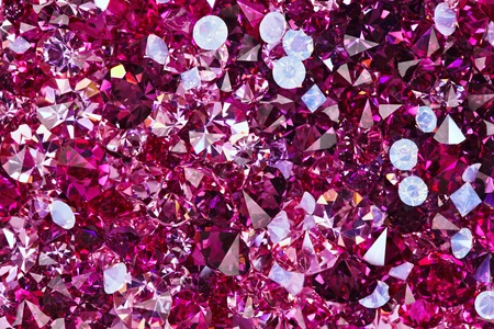 Many small ruby diamond stones, luxury background photo