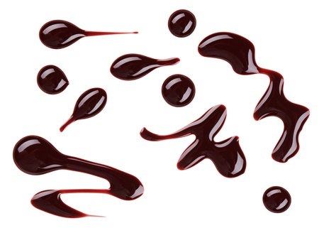 Brown nail polish (enamel) drops sample, isolated on white Stock Photo - 11512058