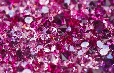 ruby gemstone: Many small ruby diamond stones, luxury background shallow depth of field