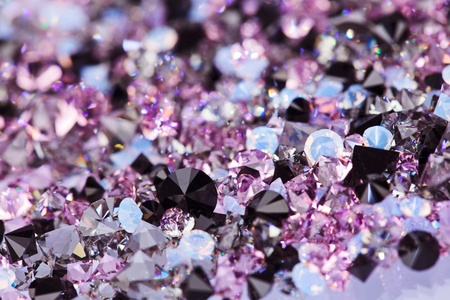 Small purple gem stones, luxury background shallow depth of field photo
