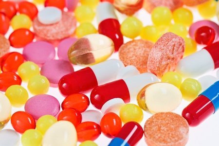 Pills, tablets and drugs, medical background Stock Photo - 12838805