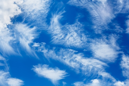fleecy: Blue sky with clouds background