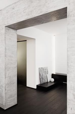 Modern minimalism style corridor inter in black and white tones Stock Photo - 14883177