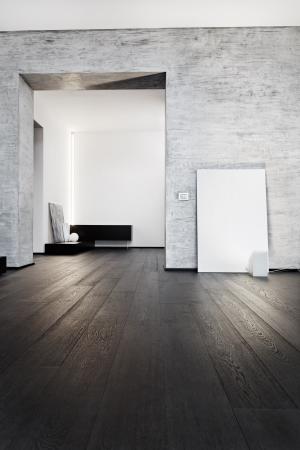 embrasure: Modern minimalism style corridor interior in black and white tones
