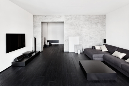 Modern minimalism style drawing-room interior photo