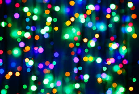 christmas embellishments: Multicolor bokeh circle background (illumination garland decoration)