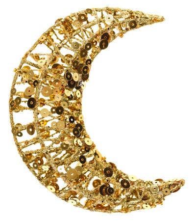 original sparkle: Christmas half moon golden decoration