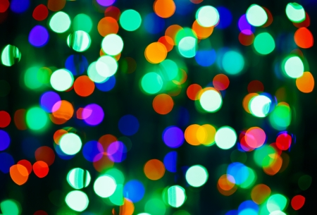 Bokeh circle background (illumination garland decoration) photo
