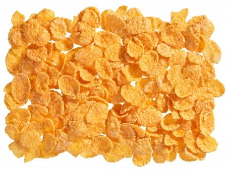 corn flakes: Corn flakes food ingredient background Stock Photo