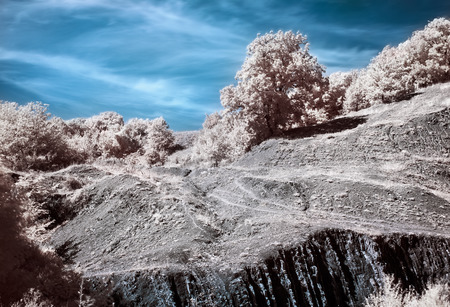 infrared: Infrared  IR  Belbek canyon landscape