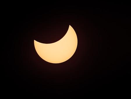 현상: Solar eclipse phenomenon, real photo, Ukraine, 20 March 2015 스톡 사진