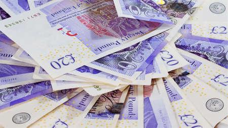 pound sterling: banco de la libra esterlina observa el fondo del negocio Foto de archivo