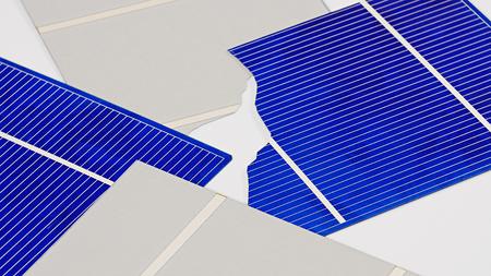 Broken solar panel cell parts background