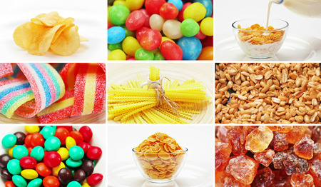 snack: Set of many food ingredients products Stock Photo