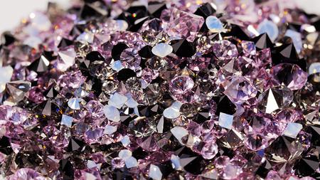 diamond stones: Many dark purple diamond jewel stones background, texture