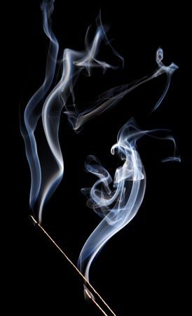 illuminative: smoke on black background