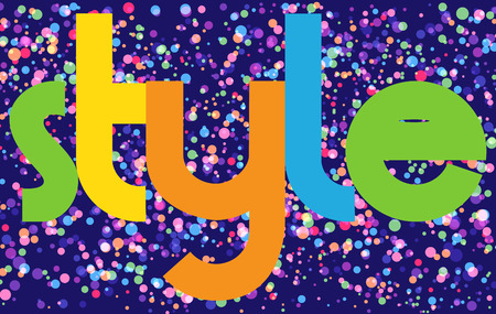 style Colourful Vector Letters Banner