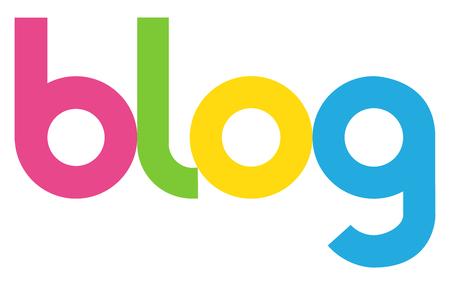 blog letters vector word banner sign