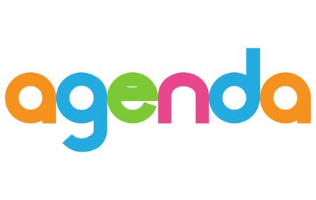 agenda vector letter icons Illustration
