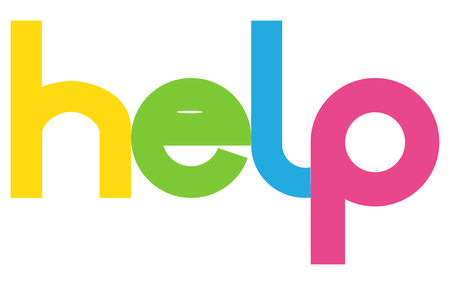 help letters vector word banner sign