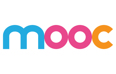 mooc Colourful Vector Letters Banner Illustration