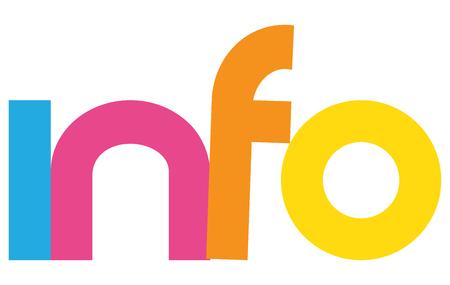 Info letters vector woord banner teken Stockfoto - 78308498