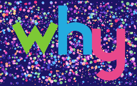why colorful vector letter banner