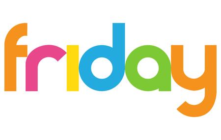 Friday letters vector word banner sign Illustration