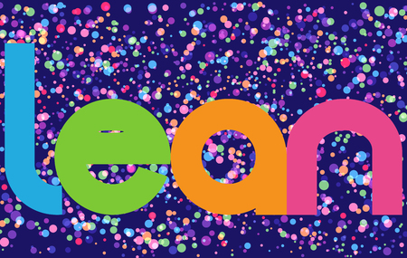 Lean Colourful Vector Letters Banner
