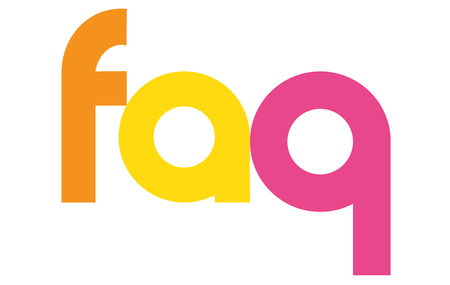 FAQ overlapping vector letters icon