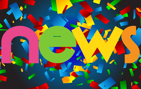 Nieuws letters vector woord banner teken Stockfoto - 78251836