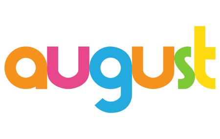 August letters vector word banner sign Illustration