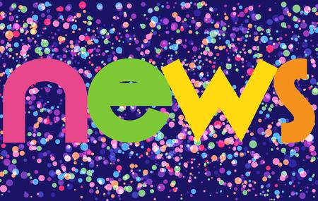 News Colorful Vector Letters Banner Ilustração