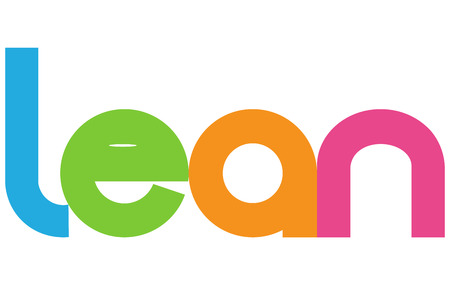 Lean Colorful Vector Letters Banner