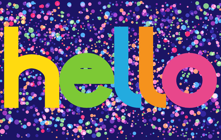 Hello Colorful vector Letters banner Illustration