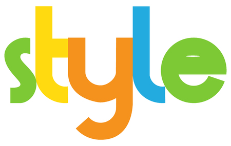 mag: style Colourful Vector Letters Banner