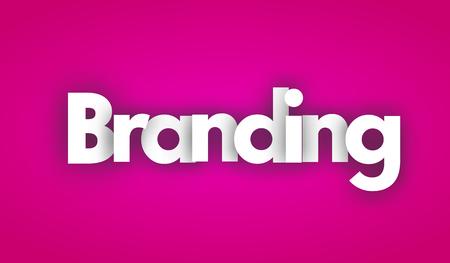 branding letters vector woord banner teken Stock Illustratie