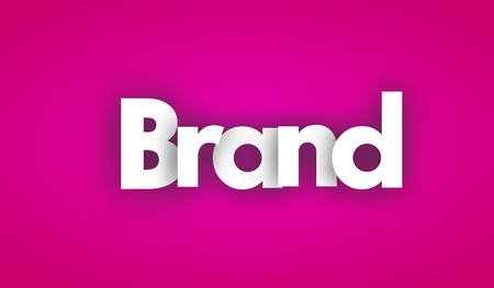 brand letters vector word banner sign